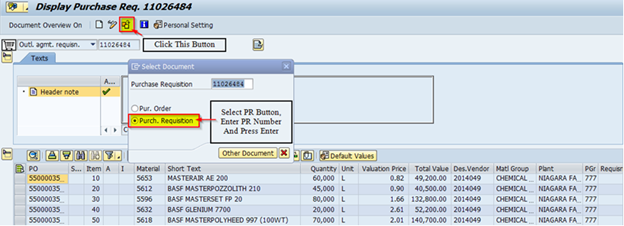 How to check Purchase Requisition (PR) status